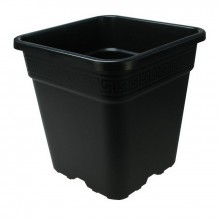 Square pot, 25 L, black, 33,5 x 33,5 x 33,5 cm