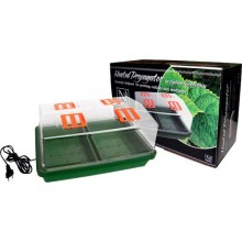 Indoor propagator, heated, with vent flaps in cover, 38 x 25 x 19,5 cm