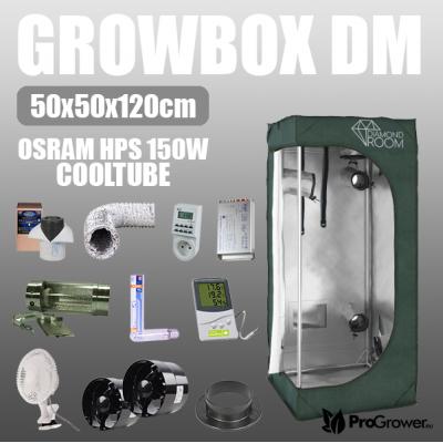 Zestaw do uprawy: Growbox DM 50x50x120cm + Osram HPS 150W Cooltube