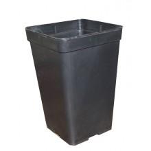 Square pot, 0.6L 9 x 9 x 14 cm