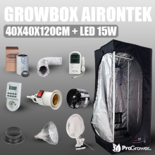 Zestaw do uprawy: Growbox Airontek 40x40x120cm + LED 15W