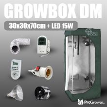 Komplettset: Growbox DM 30x30x70cm + LED 15W
