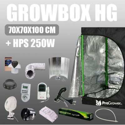 Complete Kit: Growbox Herbgarden 70x70x100cm + HPS 250W