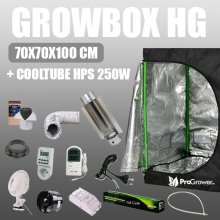 Zestaw do uprawy: Growbox HG 70x70x100cm + Cooltube HPS 250W