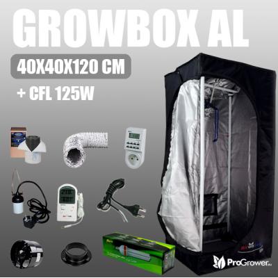 Complete Kit: Airontek Lite 40x40x120cm, CFL 125W