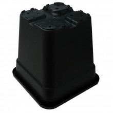 Square pot, 5 L, 19 x 19 x 19.5 cm