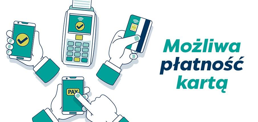Akceptujemy płatności kartą online oraz w lokalu!